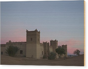 Desert Kasbah Morocco Wood Print