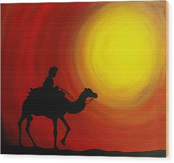 Desert King Wood Print by Ramneek Narang