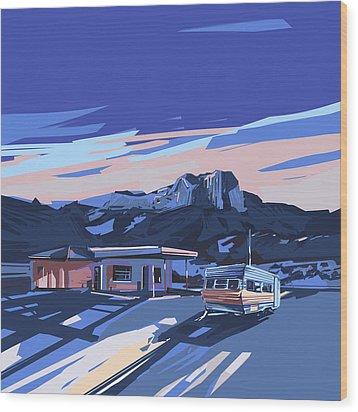 Desert Landscape 2 Wood Print by Bekim Art