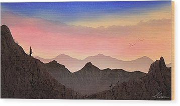 Wood Print featuring the photograph Desert Landscape by Anthony Citro