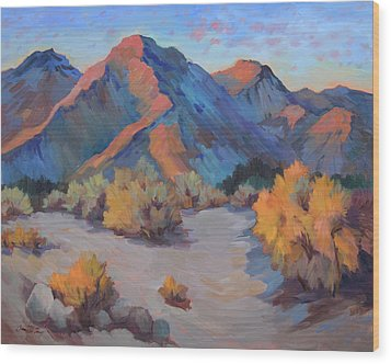 Wood Print featuring the painting Desert Light by Diane McClary