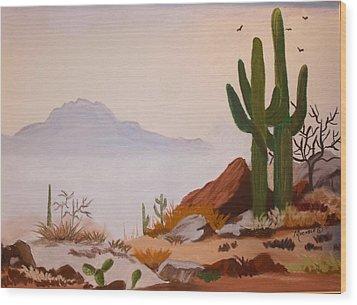 Desert Mist Wood Print