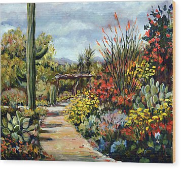 Desert Museum Garden Tucson Wood Print by Alexandra Maria Ethlyn Cheshire