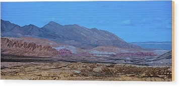 Desert Night Wood Print by Onyonet  Photo Studios