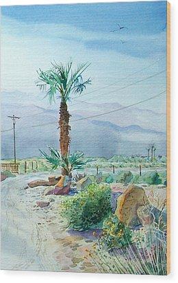 Desert Palm Wood Print by John Norman Stewart