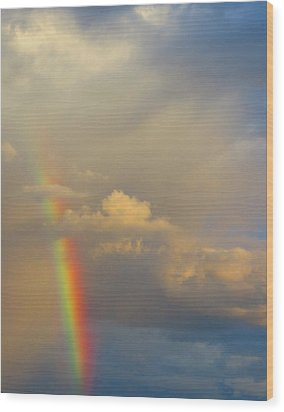 Desert Rainbow Wood Print