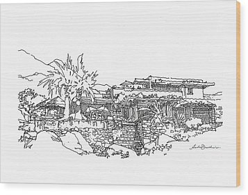 Desert Residence Wood Print by Andrew Drozdowicz