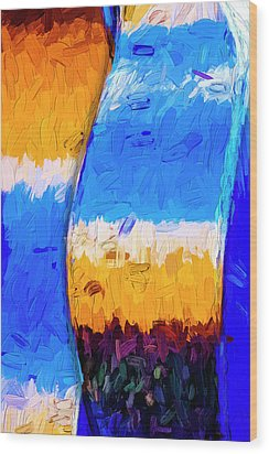Wood Print featuring the photograph Desert Sky 3 by Paul Wear
