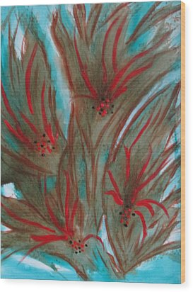 Wood Print featuring the painting Desert Spirits by Sharyn Winters