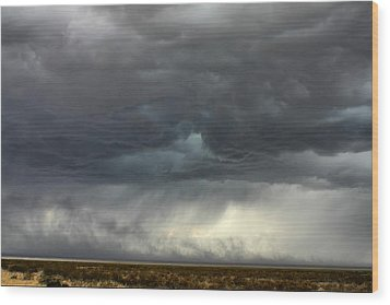 Wood Print featuring the photograph Desert Storm by Farol Tomson