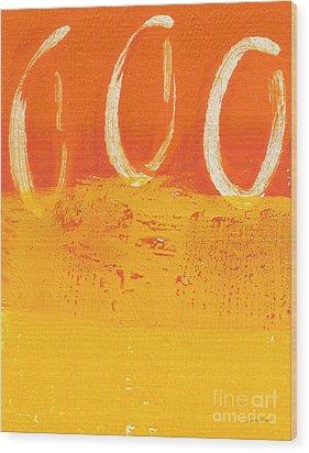 Desert Sun Wood Print by Linda Woods
