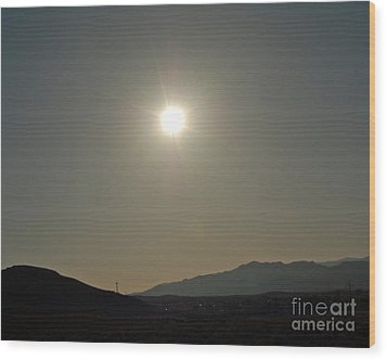 Wood Print featuring the digital art Desert Sun by Walter Chamberlain