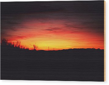 Desert Sundown Wood Print