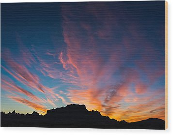 Wood Print featuring the photograph Desert Sunrise by Mary Hone