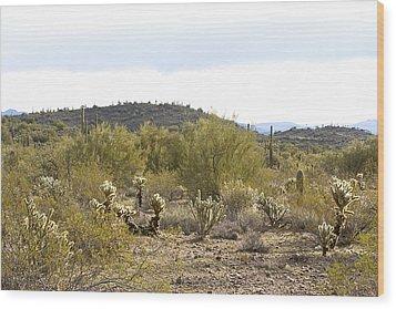 Wood Print featuring the photograph Desert Sunrise by Phyllis Denton