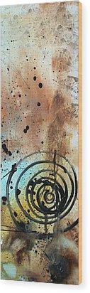 Desert Surroundings 4 By Madart Wood Print by Megan Duncanson