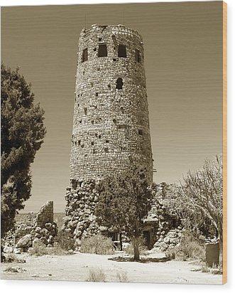 Desert Tower Work Number 2 Wood Print by David Lee Thompson