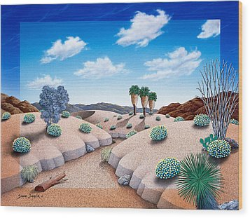 Desert Vista 2 Wood Print by Snake Jagger