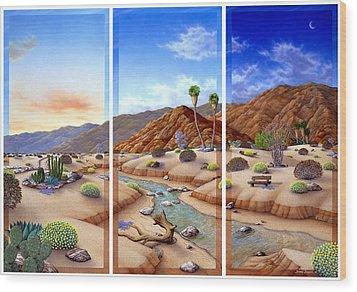 Desert Vista Wood Print by Snake Jagger