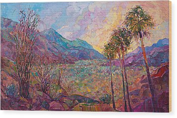 Desert Wonderland Wood Print by Erin Hanson