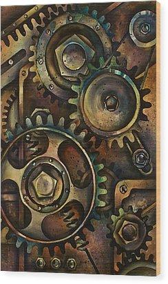 Design 3 Wood Print by Michael Lang