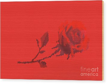 Wood Print featuring the photograph Designer Red Rose by Linda Phelps