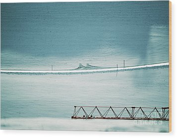 Wood Print featuring the photograph Designs And Lines - Winter In Switzerland by Susanne Van Hulst