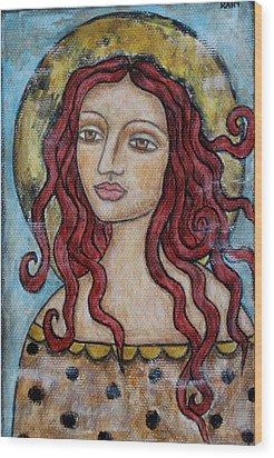 Desiree Wood Print by Rain Ririn