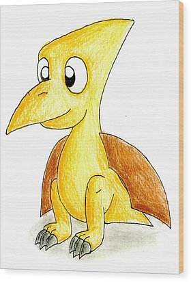 Desmond The Pterodactyl Wood Print