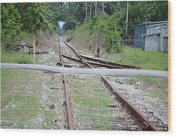 Desolate Rails Wood Print
