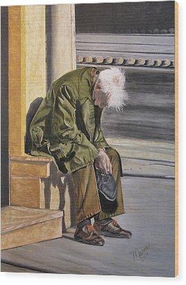 Despair Wood Print by Maris Sherwood