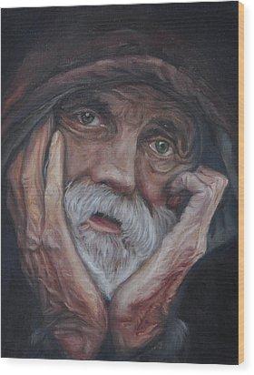 Despair Wood Print by Tahirih Goffic