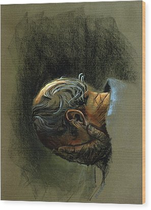 Despair. Why Are You Downcast? Wood Print by Graham Braddock