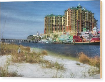 Wood Print featuring the photograph Destin Harbor # 2 by Mel Steinhauer