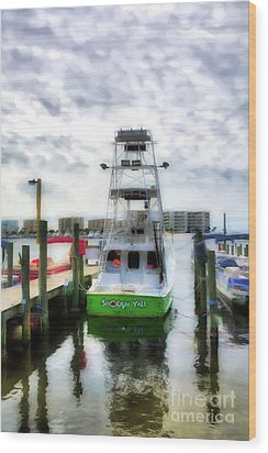 Wood Print featuring the photograph Destin Harbor Marina by Mel Steinhauer