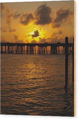 Destin Harbor Sunset 1 Wood Print by James Granberry