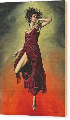 Destiny's Dance Wood Print by Richard Young