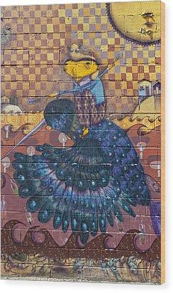 Detail - Mural Coney Island Wood Print by Robert Ullmann