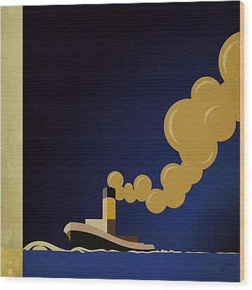 Detail Atlantique By Cassandre Wood Print