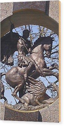 Detail From A Monument Wood Print by Anamarija Marinovic