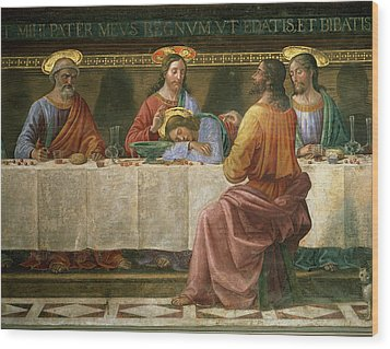 Detail From The Last Supper Wood Print by Domenico Ghirlandaio