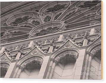 Details Of The National Cathedral Wood Print
