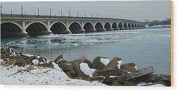 Detroit Belle Isle Bridge Wood Print