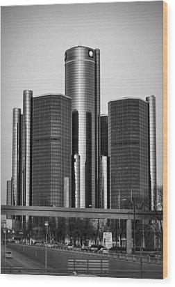 Detroit Renaissance Center General Motors Gm World Headquarters Wood Print by Ryan Dean