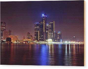 Detroit Skyline 4 Wood Print by Gordon Dean II