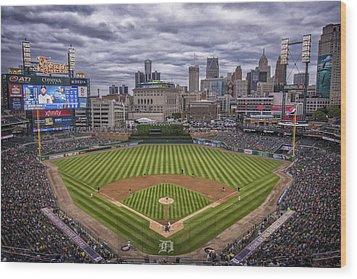 Detroit Tigers Comerica Park 4837 Wood Print by David Haskett