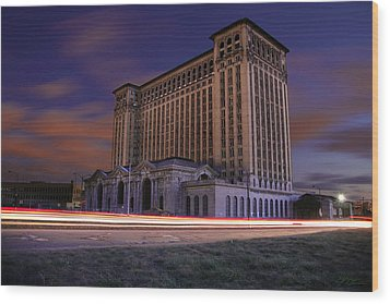 Detroit's Abandoned Michigan Central Station Wood Print