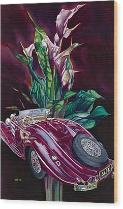 Deutschland Uber Lilies Wood Print by Mike Hill
