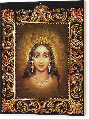 Devi Darshan In A Frame Wood Print by Ananda Vdovic