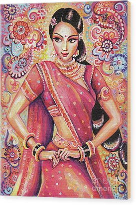 Wood Print featuring the painting Devika Dance by Eva Campbell